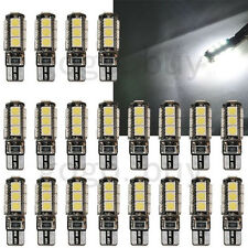 20x HID White Canbus Error Free T10 W5W 13-SMD 2825 LED Wedge Light Bulb 194 168