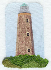 Old Cape Henry Lighthouse EMBROIDERED SET OF 2 BATHROOM TOWELS BY LAURA