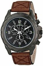 "Timex T49986, Men's ""Expedition"" Brown Leather Watch, Chronograph, T499869J"