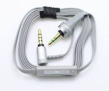 Grey Audio Remote Mic Volume Control Cable For SONY MDR-10R 10RC 10RBT NC50 200D