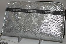 NWT LeSportsac LILY WALLET Silver Snake NEW Metallic