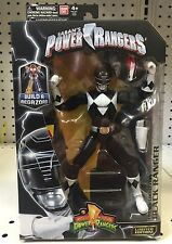 "MIGHTY MORPHIN POWER RANGERS LEGACY BLACK RANGER 6"" FIGURE BUILD A MEGAZORD BAF"