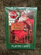 New Sealed 1998 Coca Cola Santa Playing Cards Christmas Coke Collectable