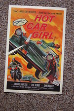 Hot Car Girl Lobby Card Movie Poster Richard Bakalyan June Kenney John Brinkley