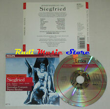 CD WAGNER Siegfried atto II JUNG MCINTYRE JONES ZEDNIK BECHT HUBNER lp mc dvd