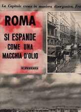 Q39 Clipping-Ritaglio 1959 Roma si espande come una macchia d'olio
