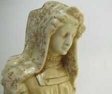 ROYAL DOULTON BURSLEM MEPHISTOPHELES & MARGUERITE VELLUM FIGURE 1890s ANTIQUE