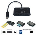 3in1 OTG SD Micro-SD Card Reader USB Port HUB Connection Kit For Mobile Phone PC