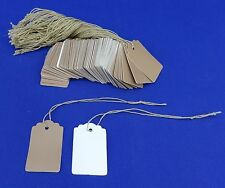 500 Kraft Designer Print Scalloped Merchandise Strung Price Tags