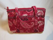 Vera Bradley Yellow Little Betsy Shoulder Bag Purse Retired Mesa Red Fabric