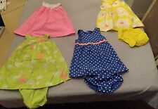 Everyday carters girl dresses 24 mos - lot of 4