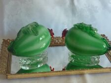 BEAUTIFUL VINTAGE HAND CRAFTED MURANO GLASS 2 MELONS  FIGURINES  ITALY C 1950'S