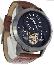 Fossil Grant Black Dial Brown Leather Strap Automatic Men's Watch ME1126