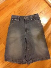 Authentic MENS DKNY DARK BLUE WASHED DENIM CASUAL BOTTOM JEANS SHORTS SIZE 29