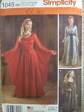 NEW SIMPLICITY HISTORICAL MEDIEVAL FANTASY COSTUME SEWING PATTERN  LARGER SIZES