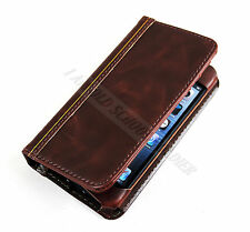Antique Retro Book Design Leather Flip Wallet Case Cover For iPhone 4 4S 4GS
