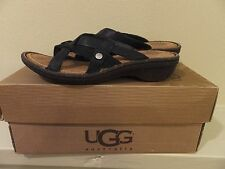 Sz 6 Womens UGG Australia Lanni Flip Flops Thong Sandals Shoes 1000608 Black
