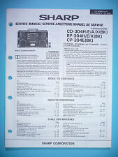 Service Manual-Anleitung Sharp CD-304H/RP-304H/CP-304E,ORIGINAL