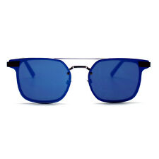 """NEW SPITFIRE Silver/Blue """"SUBSPACE"""" Square Flat Lens Sunglasses -SALE"""