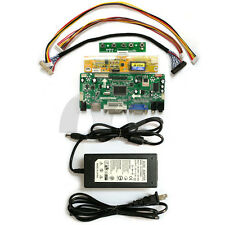 M.NT68676.2(HDMI+DVI+VGA+Audio) LCD Controller Board Kit & 12V 5A Power Adapter