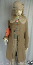 Vintage Beige Camel Tan NOA NOA Wool Tweed Jacket Blazer Coat UK 8 US 2 XS S