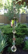 Swarovski Element Suncatcher W/Glass Crystals & Feng Shui Prism Ball USA