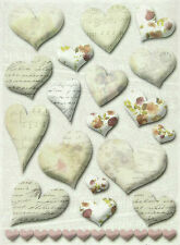 Ricepaper / Decoupage Papel Scrapbooking Hojas Corazón Decoraciones