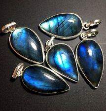 5 LABRADORITE 925 STERLING SILVER OVERLAY BABY PENDANT WHOLESALE LOT 2481