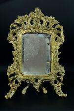 Petit Miroir de table Ancien  bronze ajouré doré louis xv antique miror