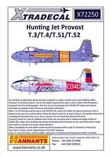 Xtra Decals 1/72 HUNTING JET PROVOST T.3 T.5 T.51 & T.52 Jet Trainer