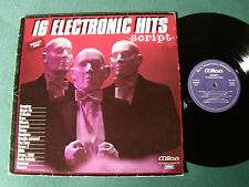 SCRIPT : 16 ELECTRONIC HITS LP 1980 French synth MILAN SLP 24 - 1 hour 16 tracks