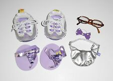 BUILD A BEAR girl's SHOES, PURSE & ACCESSORY lot