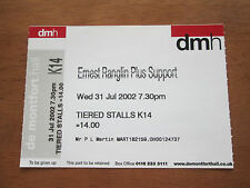 ERNEST RANGLIN - DE MONTFORT HALL LEICESTER  UK 31.7.2002 UN USED CONCERT TICKET