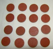 Set of 16 Opa Red Point 1 Ration Tokens All Different Letters World War II