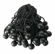 """New 100 pc.- 9"""" Ball Bungee, Black, Canopy Tarp Accessory, Tie Downs Straps"""
