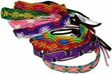 #3592 Hand Made Peru Artisan Woven Friendship Bracelets Wide 50 Lot Assortment