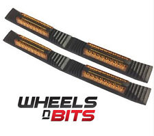 Ford Fiesta Focus 2x Door Edge Guard Strip Protectors With Amber Reflectors
