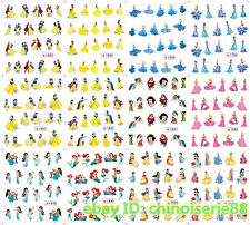 240 Assorted Disney Snow White Mermaid Princess Belle Decals Nail Art Stickers