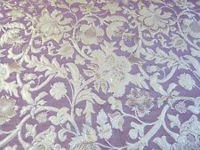ITALIAN  LUREX FLORAL BROCADE-MAGENTA/GOLD -DRESS/BRIDAL FABRIC-FREE P&P