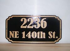 Personalized STREET HOUSE ADDRESS NUMBER SIGN.BIRCH.Laser ENGRAVED.GIFT.