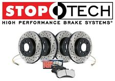 Front & Rear StopTech Sport Drilled Slotted Brake Rotors Pads Kit For G35 350Z