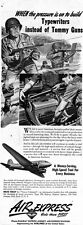Typewriters instead of Tommy Guns WW2 Air Express Shippers 1944 Print Ad