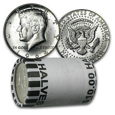 90% Silver 1964 Kennedy Halves - $10 Face Value Roll - Brilliant Uncirculated