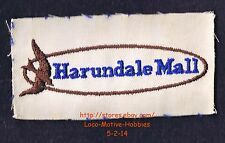 LMH PATCH Badge  HARUNDALE MALL  East Coast 1st A/C Enclosed  Uniform Logo 1960s