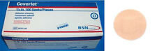 """BSN COVERLET Adhesive 7/8"""" 100 Round Spots Fabric Sterile Bandages USA Patch New"""
