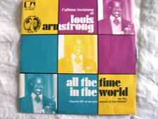 DISCO 45 giri LOUIS ARMSTRONG - All the time in the world/Pretty little missy