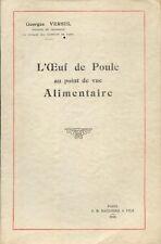 L'Oeuf de Poule au point de vue alimentaire/Georges Versel/1935