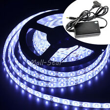 5630 SMD Cool White 5M Waterproof 300 LED Strip Light + DC12V 5A Power+DC Female