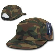 Camo Racing Classic Low Profile Jockey Camouflage 5 Panel Adjustable Cap Hat