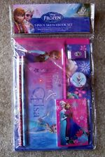 Disney Frozen Elsa Anna Olaf 7 piece Sketchbook Stationery Set School Supplies